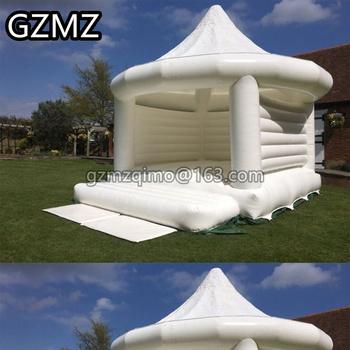 MZQM 5x4m biały nadmuchiwany ślub jumper bramkarz zamek skoki łóżko nadmuchiwany bounce dom tanie i dobre opinie