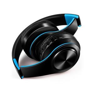 Image 5 - 새로운 휴대용 무선 헤드폰 블루투스 하이파이 스테레오 접이식 헤드셋 오디오 Mp3 조정 가능한 이어폰, 음악 용 마이크 포함