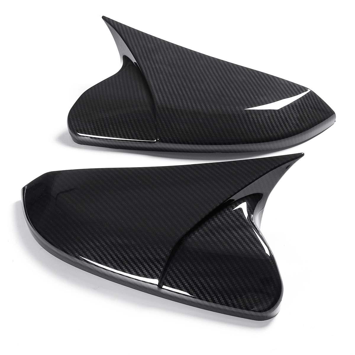 Форма рога ABS углеродное волокно стиль заднего вида боковое зеркало крышки заднего вида для Honda Для Civic 10th 2016 2017 2018 2019