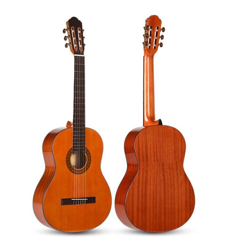 39 pouces cèdre bois guitare classique unisexe débutant doigt classique guitare étudiant apprentissage 39 pouces nylon marque guitare Sapele