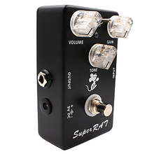 Mosky Super Rat Guitar Effect Pedal Hand-Made Three Mode Effects Classic Rat Distortion Boost Preamp- 3 In 1 Amazing Pedal Based vox v845 classic wah wah pedal guitar effects pedal