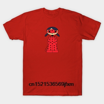 Baskılı erkek T Shirt pamuk kısa kollu yeni stil Comicones 362 Lady Bug Comicones kadın T-Shirt