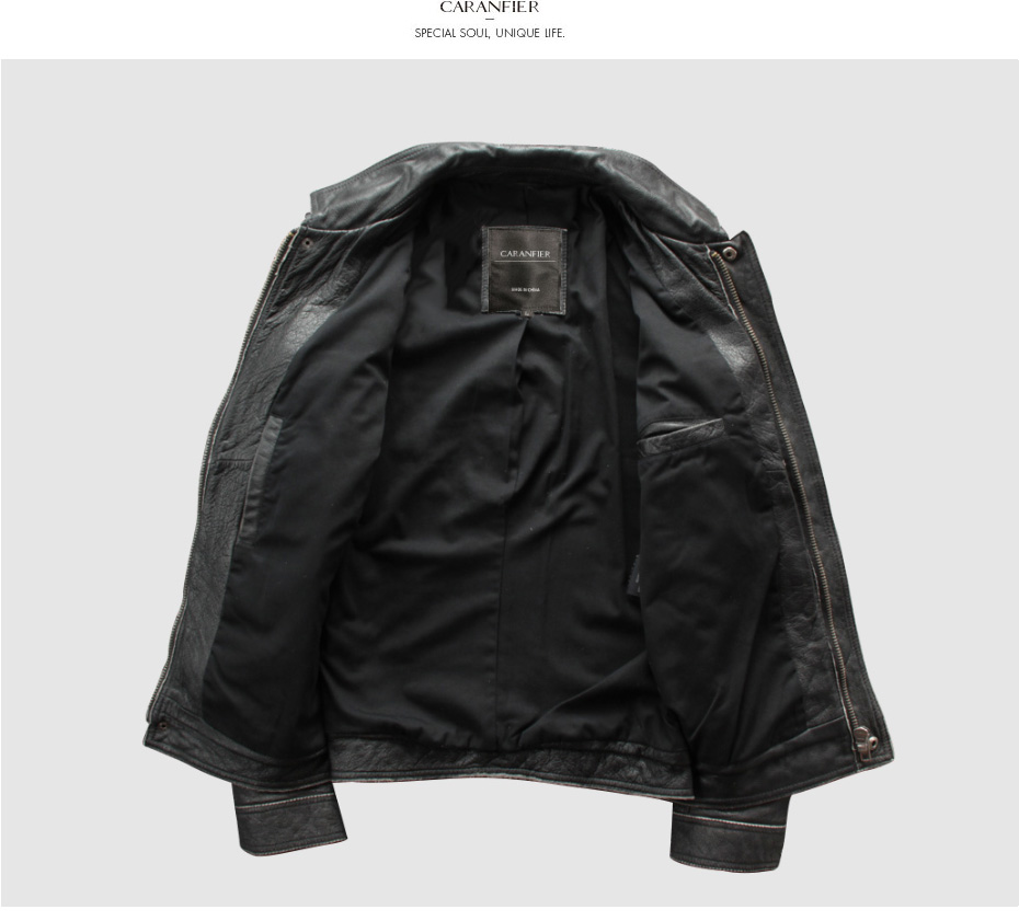 H984e14de2b6447eaabff1c4be52a96f9B CARANFIER DHL Free Shipping Mens 100% Cowhide Genuine Leather Jacket High quality old retro motorcycle leather jacket 3XL