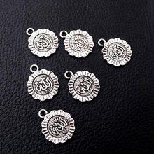 8 pçs/lote Colares Pulseiras de Prata Banhado Islâmico Charme Pingente De Metal DIY Jóias Artesanato Acessórios 23*19mm P128