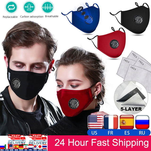 Fast Shipping Face Breathable Mouth Mask 3D Breathing Valve Adult Children Kid Reusable Washable Proof Soft Anti-Flu Mask