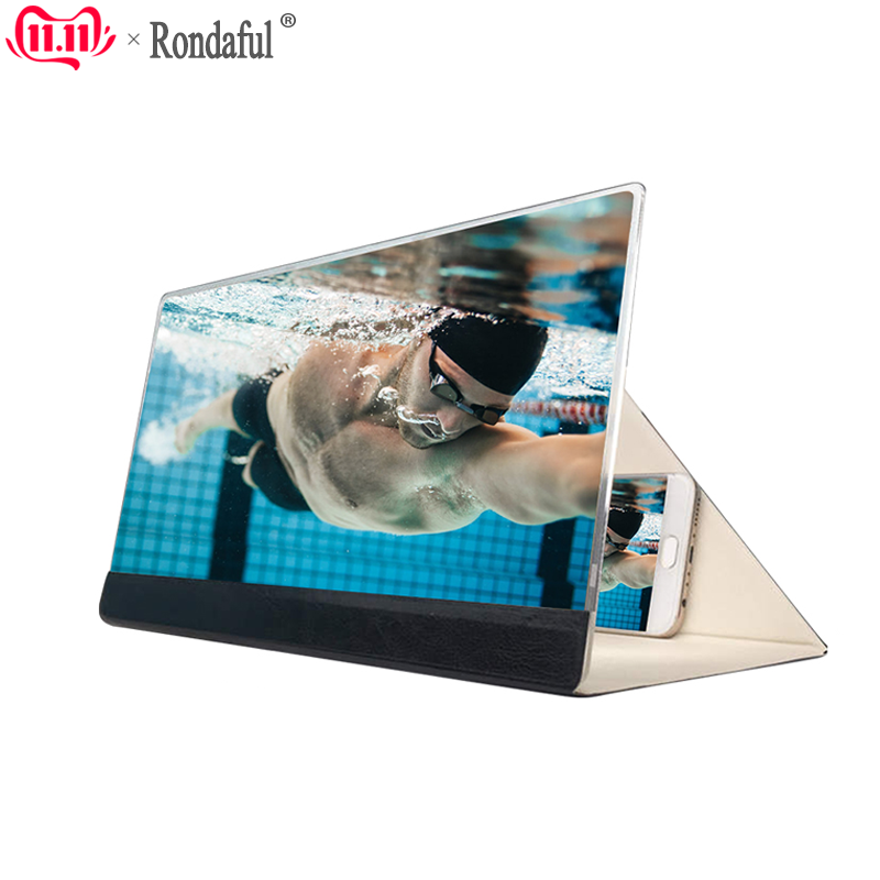 12inch Foldable 3D Screen Magnifier Houlder HD Video Amplifier Phone Mount Stand