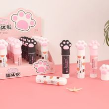 Glue-Stick Office-Stationery School Portable Kawaii Solid Cat 8G Claw-Shape Strong-Adhesive