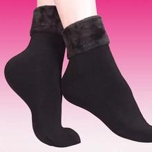 10 par/lote inverno quente meias femininas de lã de cashmere macio meias térmicas senhoras botas de veludo chão neve