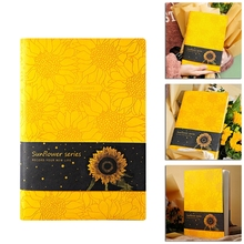 PU Leather Sunflower Notebook A5 Schedule Book Diary Weekly Planner Notepad Gift K4UD