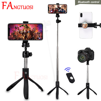 FANGTUOSI 4 In 1 Bluetooth Wireless Selfie Stick With Remote Control Universal Handheld Monopod Foldable Tripod For Phone Camera
