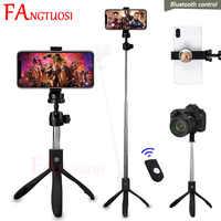 FANGTUOSI 4 в 1 Bluetooth беспроводной селфи палка с Универсальный пульт дистанционного управления ручной монопод складной штатив для камеры телефон...