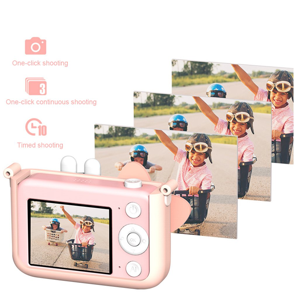 Children Digital Camera Mini Wifi Small Slr Sports Camera Camera Toy Hd Digital Camera 12.4 inch Screen Mini Camera Gift