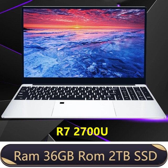 Max RAM 36GB Rom 2TB SSD Ultrabook Metal Computer 2.4G/5.0G Bluetooth Ryzen R7 2700U windows10 Metal portable gaming laptop 1