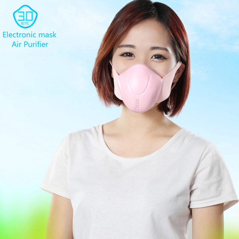 Smart Electric Mask Air Purifier 4 Layer Mask Face Respiratory Air Purification Mask Anti Dust Pollution Fresh Air Pm 2.5 Filter
