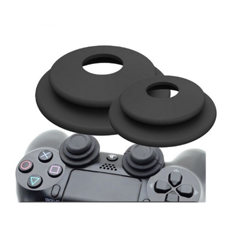 2 in 1 Aim Assistant Ring Soft Silicone Shock Absorbers Analog Joy Stick Game Accessories for Sony Playstation 3 PS4 Pro XBOX ON image