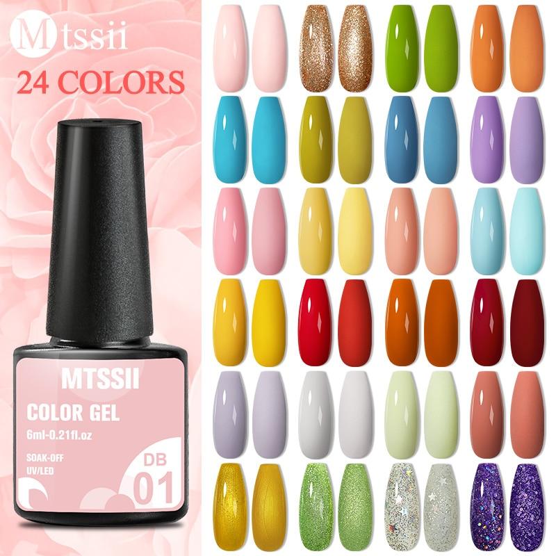 Mtssii весенний яркий Сладкий Цветной лак для ногтей Блестящий гель УФ-гель для ногтей отмачиваемый светодиодный гель для ногтей для рисовани...