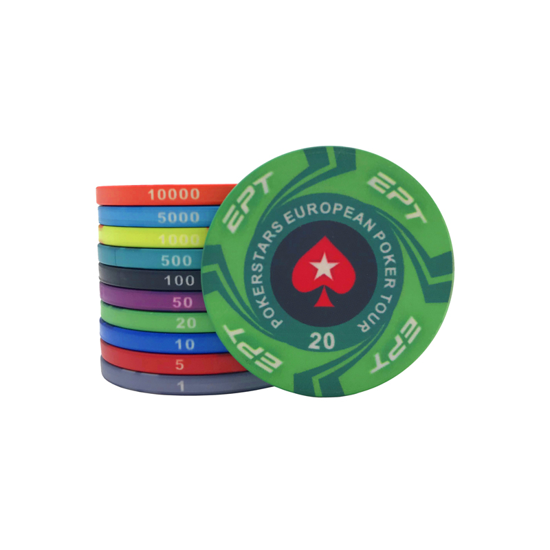 20Pcs Lot ETP Ceramic Poker Chips Texas Hold 39 em Baccarat Casino Club Playing Card Mahjong Round Peach Heart Chips Set Board Game in Poker Chips from Sports amp Entertainment