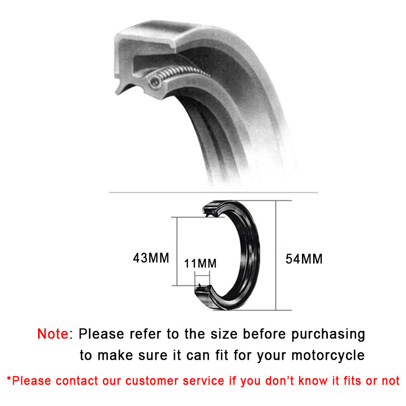 Для DUCATI MONSTER 620 659 695 696 HYPERMOTARD SUPER SPORT800 мотоцикл 43*54*11 мм 43 54 11 передняя вилка амортизатор сальники