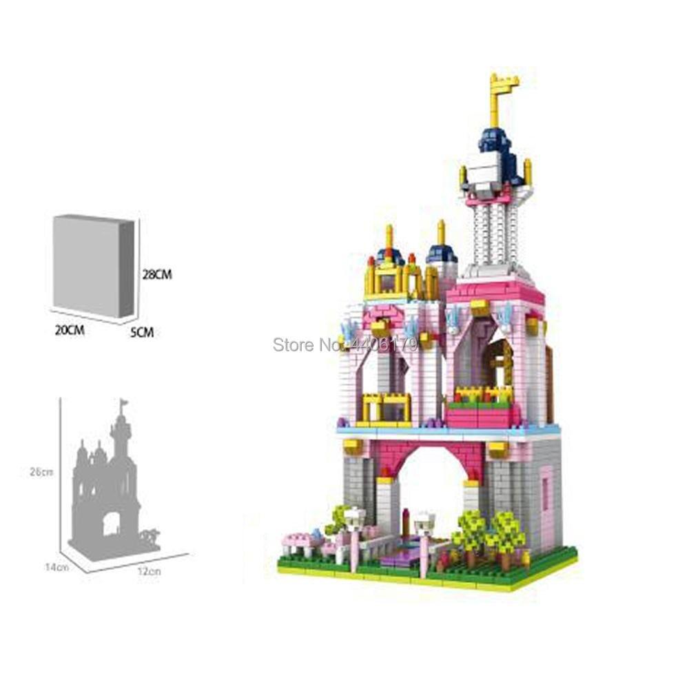 hot LegoINGlys creators Classic fairy tales Royal Castle Prince Princess figures mini micro diamond building blocks model toys