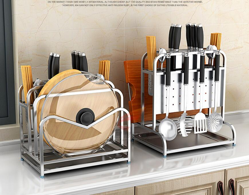 304 stainless steel knife rest, kitchen shelf, multi-functional cutting board stand