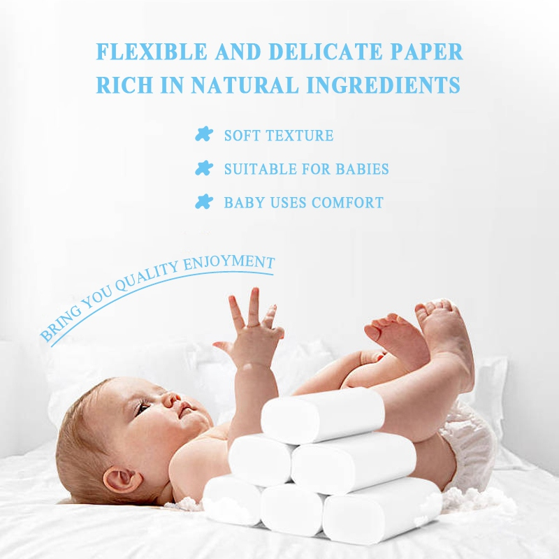 12PC Facial Tissue Toilet Disposable Portable  Paper Home Kitchen Toilet Tissue Face Cleaning Paper Towel Roll Paper