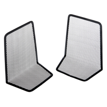 1 Pair Metal Mesh Desk Book Organizer Desktop Office Home Bookends Holder Black Color