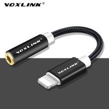 Yeni aux ses kablosu VOXLINK 8pin 3.5mm Aux kulaklık jak adaptörü apple için kablo iPhone X 8 8 artı 7/7 artı