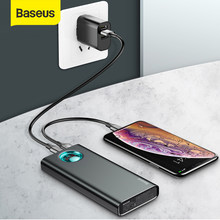 Baseus Power Bank 20000mAh18W Schnelle Lade PD 3,0 QC 3,0 Reise Ladegerät Digital Display Tragbare Externe Batterie Power Telefon(China)