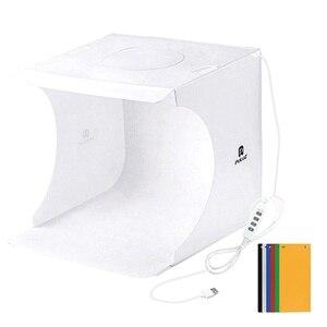 Портативная коробка для фотостудии со светодиодным кольцом, светильник, небольшой реквизит для фото, оборудование для студийной съемки, на...