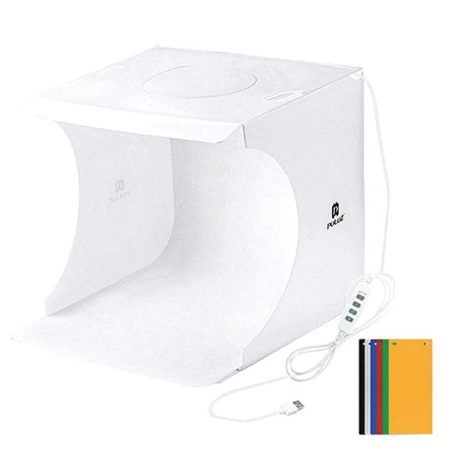 Portable Photo studio Box Set with LED Ring Light Small Photo Props Equipment Studio Shooting Tent Kit mini folding light box