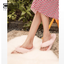 Spring and summer women's slippers flat bottom bow clip foot herringbone versati