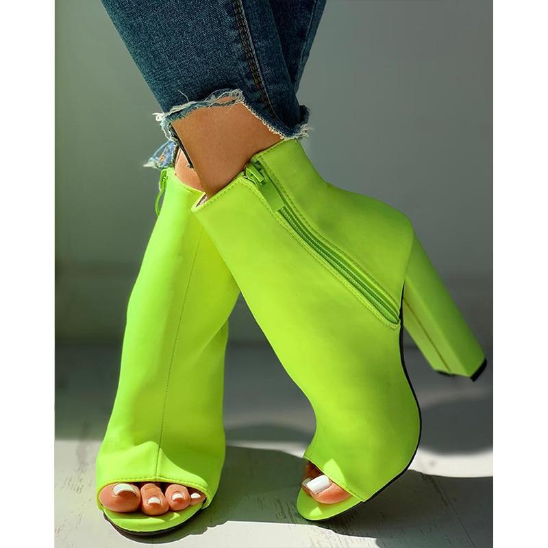 2020 Nightclub Spring Serpentine Zipper High Heels Women Fashion High Heels 10cm Heels Platform Sandals Party Wedding Shoes