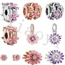 XIAOYI – nouvelle collection de bijoux s925 printemps violet marguerite, ornements de chaîne à gradation, cadeau pour couples, petite amie, senior, 2021