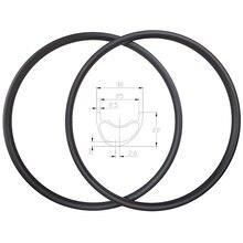 סופר אור 310g 29er XC אסימטרית Hookless MTB פחמן חישוקים 30mm רוחב 22mm עומק UD מט מבריק ללא פנימית אופני הרי גלגלים