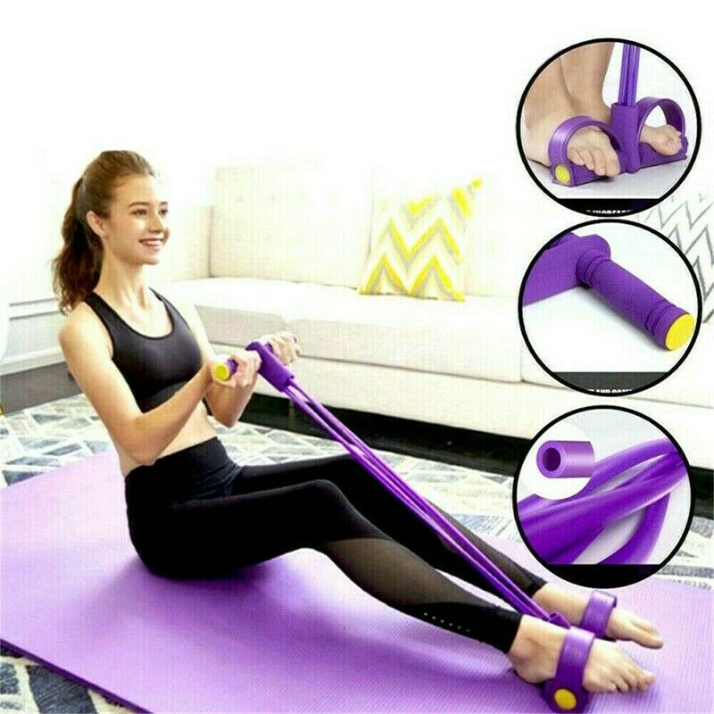 New Multi-Function Tension Rope Fitness Pedal Exerciser Rope Pull Bands