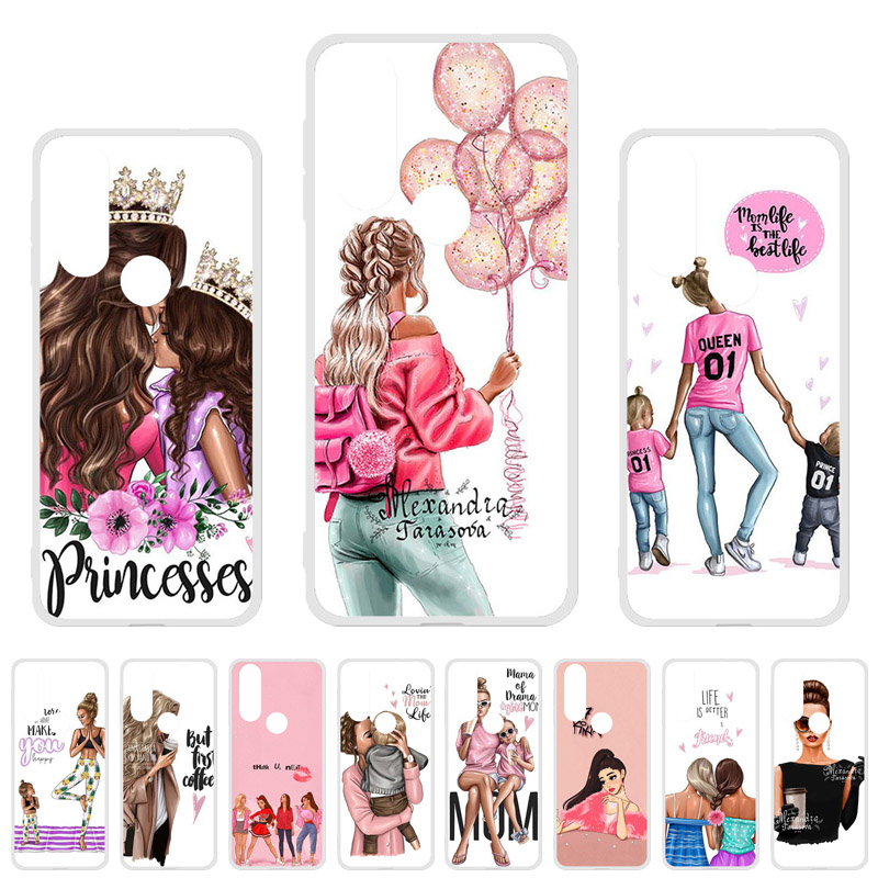 Fashion Mom Baby Girl Case For Moto One Action Vision Power Case Fashion Fundas For Motorola Moto P30 Play P40 Cover Etui Capa