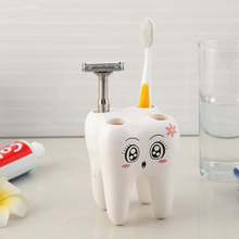 Зубная щётка держатель Зубная щётка коробка из АБС-пластика для хранения зуб Форма прекрасный Ванная комната Домашний декор Зубная щётка контейнеры белый