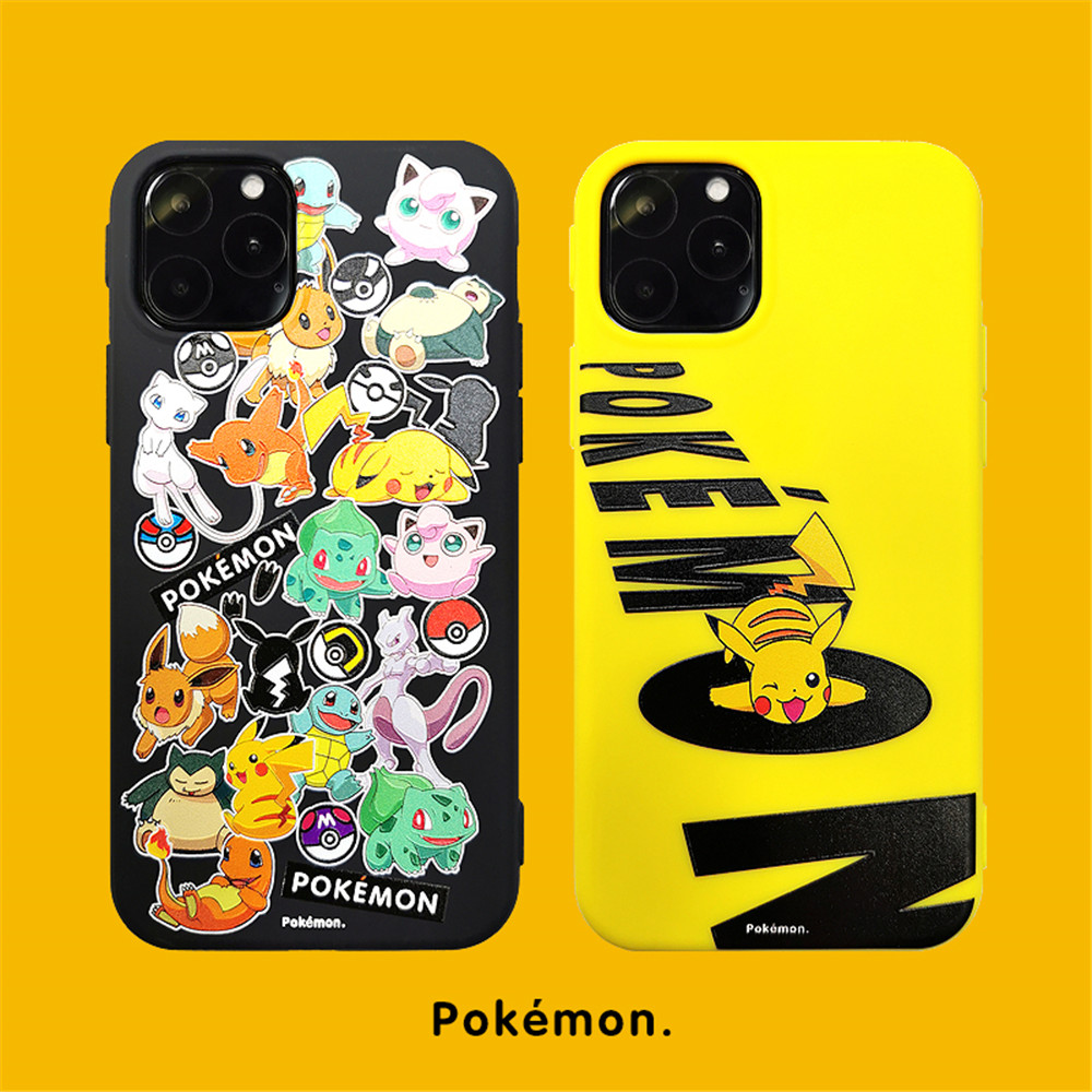 Pikachu Pokemon Soft Fitted Case For Iphone XR X XS 11 Pro Max 6 6S 7 8 Plus
