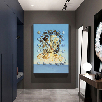 Famous Painting Salvador Dali Galatea Spheres Oil Painting Canvas Painting Wall Art for Living Room Home Decor (No Frame) 4