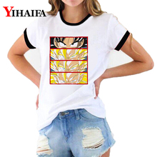 Dragon Ball Z T Shirts 3D Print Creative Goku Eyes Graphic Tees Women Cartoon Short Sleeve Casual Tops shirt