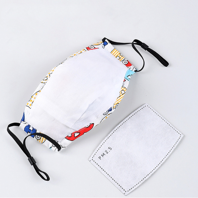 PM2.5 Children Face Mask Kids Cotton Mouch Mask Child Anti Dust Mascarillas Non-woven Fabric With Breath Valve Unisex Reusable 5