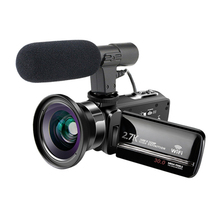 KOMERY Video Camcorders WIFI Streaming Vlogging For Youbute 16X Digital Zoom Touchscreen Night Vision Video Digital Camera komery video camera 3 0 inch screen full hd 1080p 16x smart digital zoom 24 million pixels support language selection