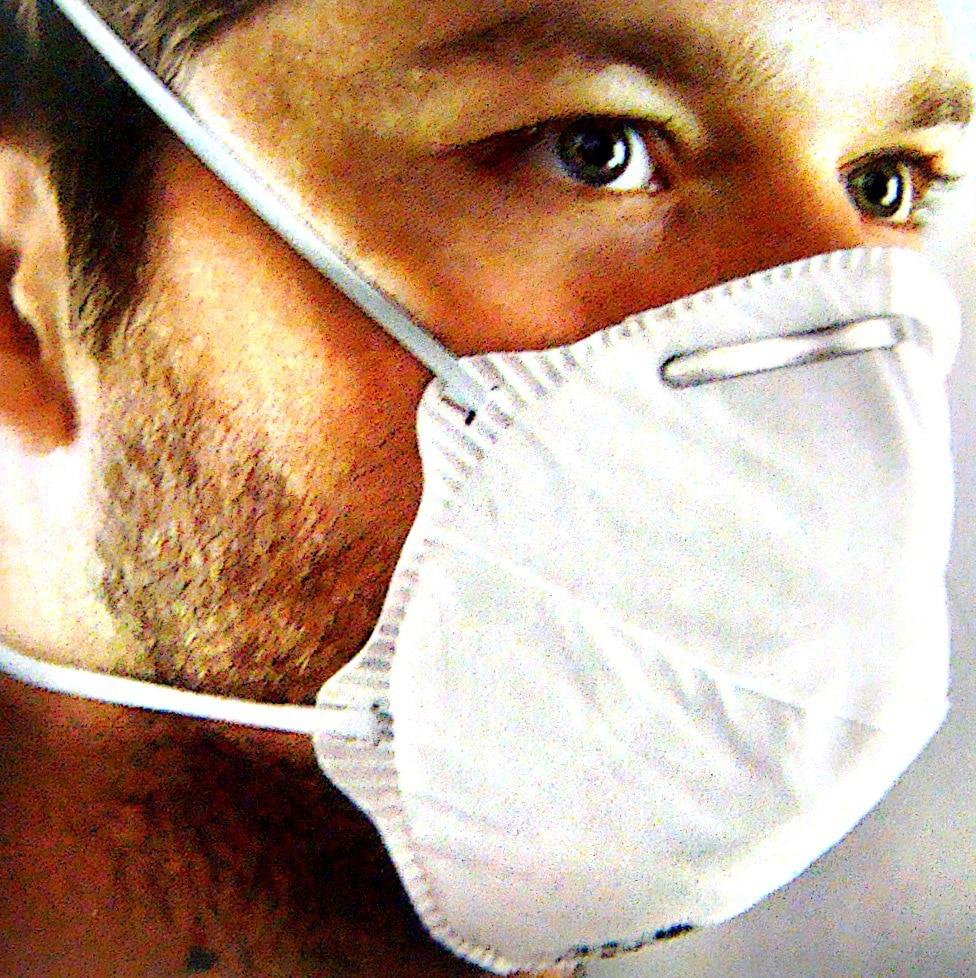 [Sir Safe Protection] Disposable Upcast Face Mask 45160 Ffp2 Face Mask, Headband.