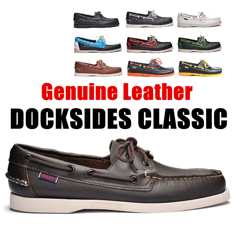 Men Genuine Leather Driving Shoes,Slip On Docksides Classic Boat Shoe,Brand Design Flats Loafers For Men Women 2019A025