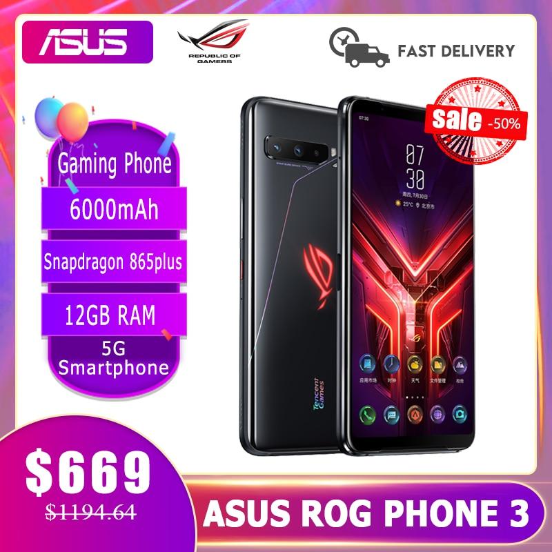 ASUS ROG Phone 3 Global ROM Gaming Phone 12/16GB RAM 128/256/512 GB ROM OTA Update Snapdragon865Plus 6000mAh Smartphone|Cellphones| - AliExpress