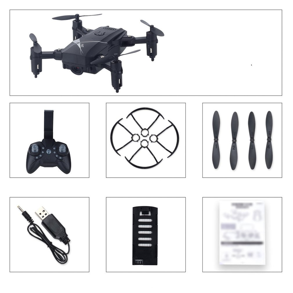 LF602 2.4G <font><b>Mini</b></font> <font><b>FPV</b></font> Foldable RC Quadcopter <font><b>Drone</b></font> Aircraft with 0.3MP Wifi Camera Gesture Selfie Altitude Hold image