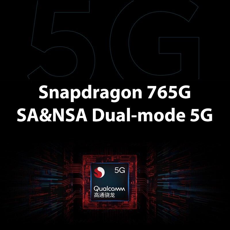 Globale Rom Xiaomi Redmi K30 5G 8GB 256GB Smartphone Snapdragon 765G Octa Core 64MP Quad Kameras 120HZ Flüssigkeit Screen Schnelle Ladung