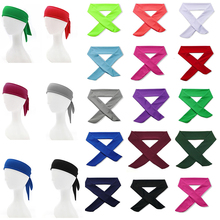 Unisex Sports Yoga  Elastic Sweatband Basketball Sports Headband Women Men Gym Fitness Sweat Hair Band Volleyball Tennis Running недорого