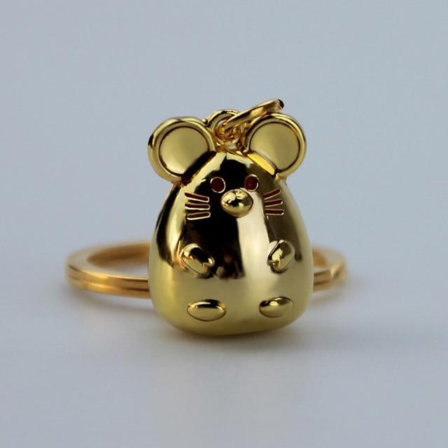New Chunky Rat Mouse Keychain Fashion Trinket Animal Car Keyfob Bag Pendant Key Chain Personalized Keyring for Women Gift 2