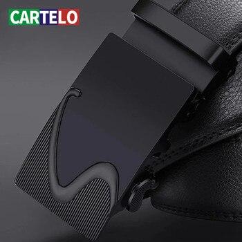 CARTELO Luxury Leather Belt Men Designer Luxury Leather Men's Belts Good Quality Business Men Automatic Belts 100% Genuine 2017 luxury 100